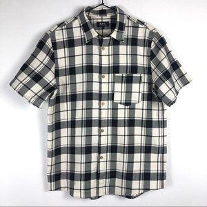 A.P.C. Plaid Short Sleeve Button Down Shirt